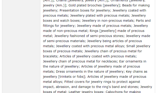 Trademark Ireland Application filed for LostForest trademark for jewellery TM Trademark IP Law