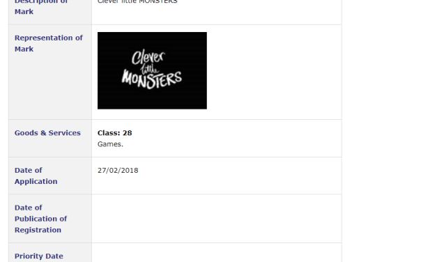 Trademark Ireland TM Application for CleverLittleMonsters for Games and Playthings Trademark TM Trademarks IP Law