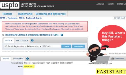 Microsoft Faststart Trademark Application – Microsoft Faststart Online Video Game Platform
