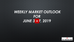 Weekly Market Outlook For June 3 - 7, 2019