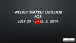 Weekly Market Outlook For July 29 - AUG. 2, 2019