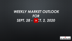 Weekly Market Outlook For Sept. 28 - Oct. 2, 2020 - Exit Q3 / Enter Q4