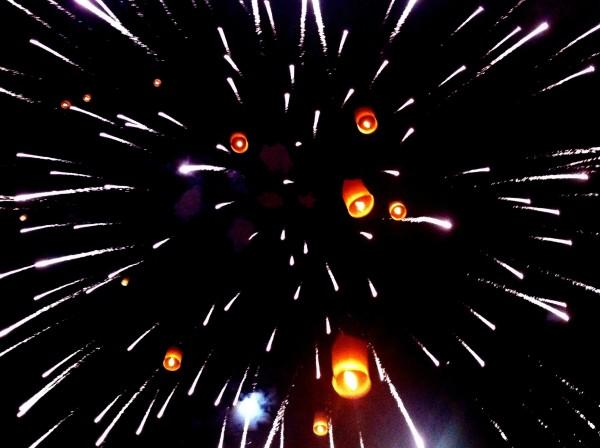 fireworks yi peng chiang mai