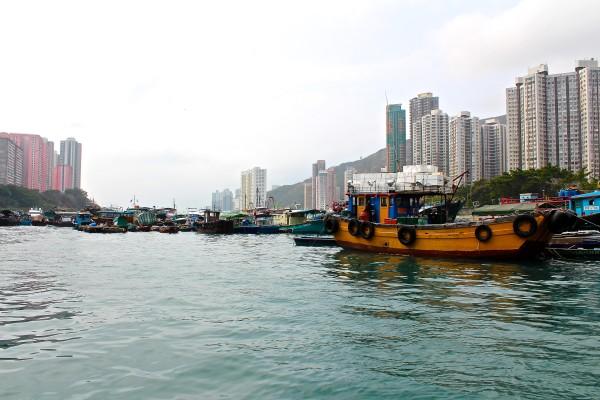 hong kong aberdeen sampan boat