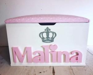 princess crown personalised toy box