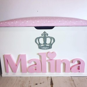 princess crown personalised toy box