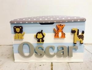 safari jungle animal boys toy box