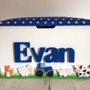 farm animal personalised toy box