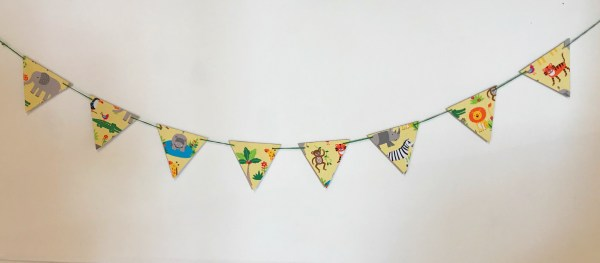 safari wooden bunting