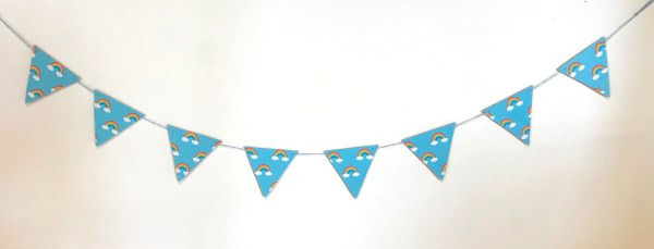 rainbow wooden bunting
