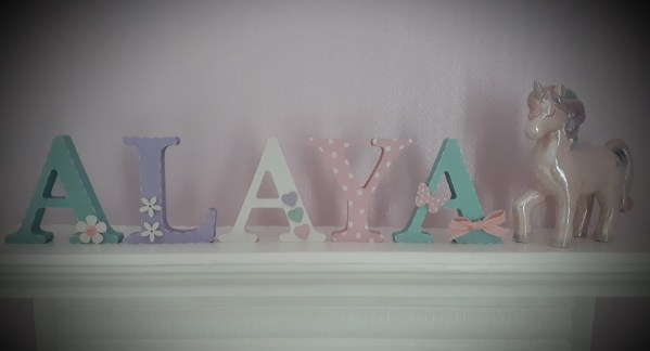 girl pastel freestanding name