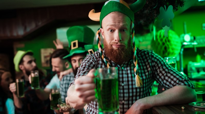 Getting drunk on St Patrick's Day