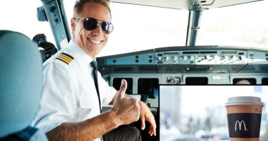 Pilot cures hangover with coffee