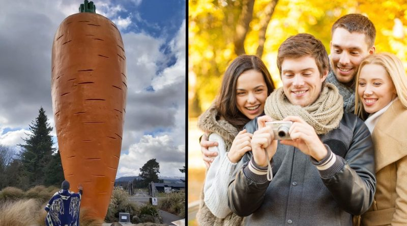 Country town's giant novelty vegetable monument successfully compensates for fuck-all else to do
