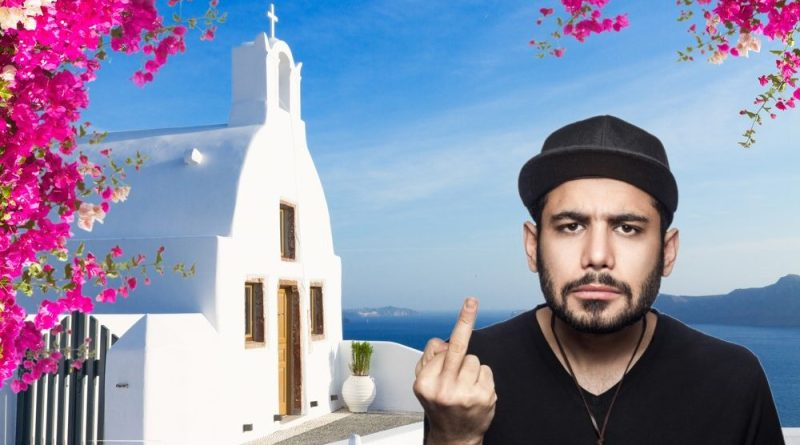 Events rep on Greek island didn't want you virgins coming to his sweet party anyway
