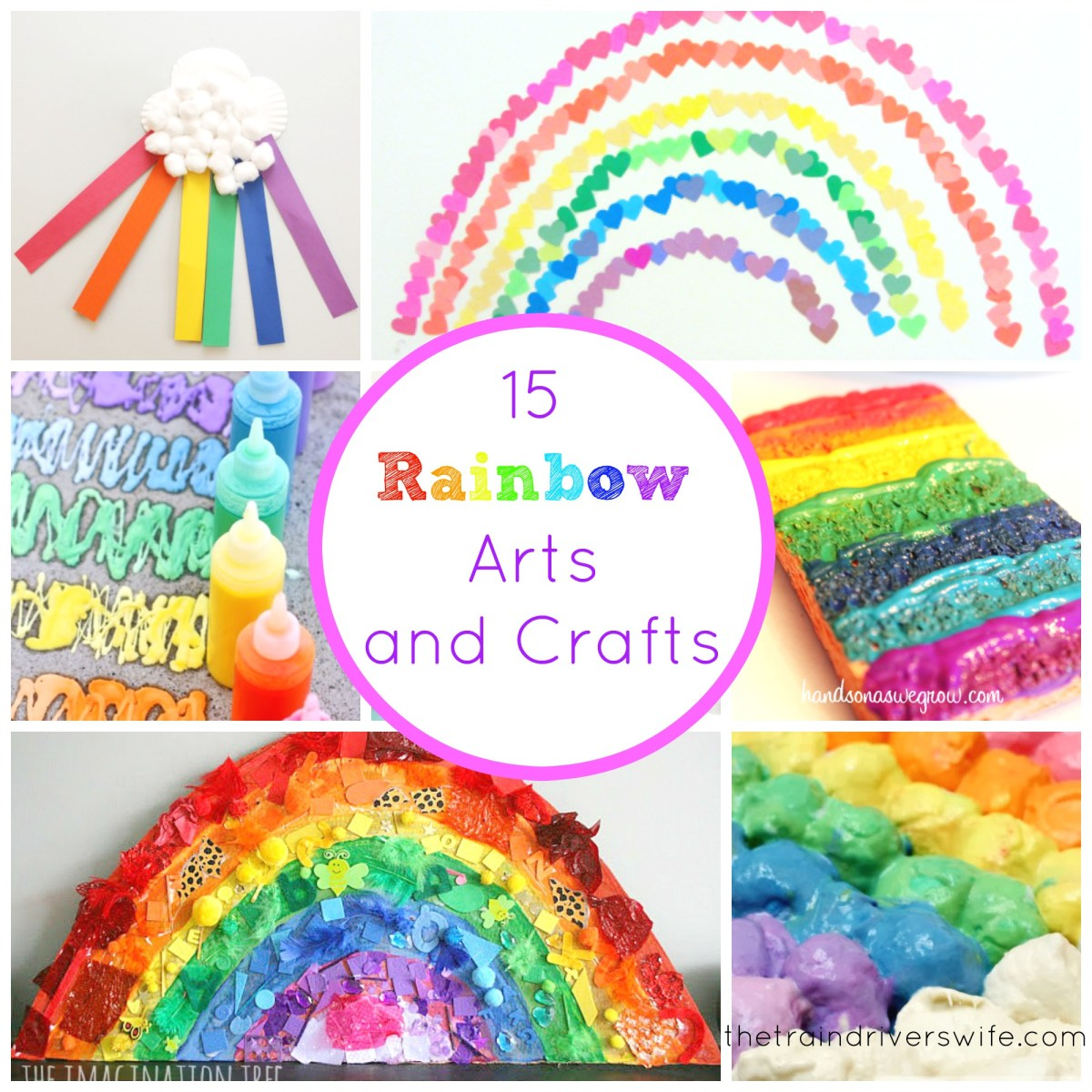 15 Rainbow Arts And Crafts The Train Driver S Wife