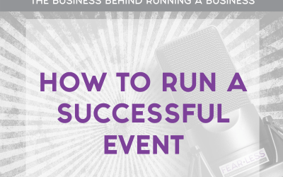 Episode 103: How to Run a Successful Event