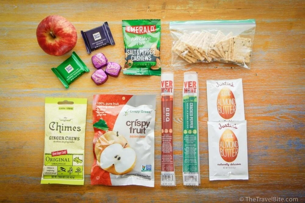 Image result for snack for airplane travel