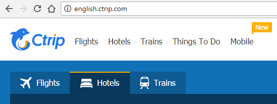 Booking Trips on Ctrip.com