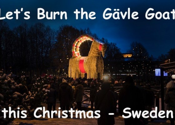 Gävle Goat Burning Christmas