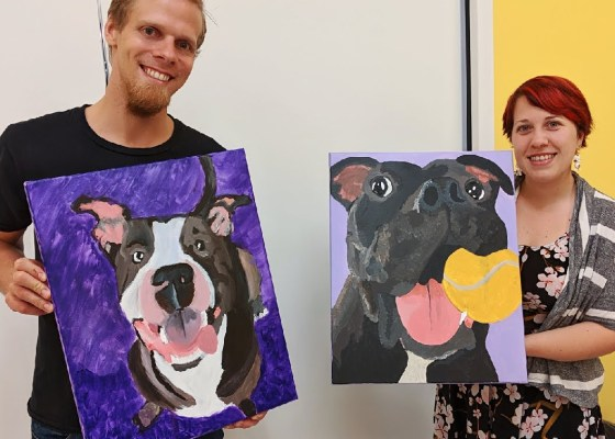 Paint Your Pet at Create Color Art Studio
