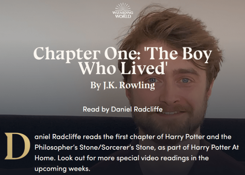 Harry Potter, Harry Potter Read by Daniel Radcliffe – FREE, The Travel Bug Bite, The Travel Bug Bite
