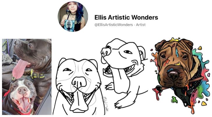 Ellis Artistic Wonders, Ellis Artistic Wonders: $3 'Bad' Pet Portraits, The Travel Bug Bite