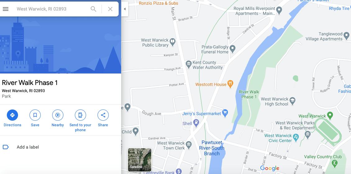 Waterfall in West Warwick, Waterfall in West Warwick: River Walk, RI, The Travel Bug Bite