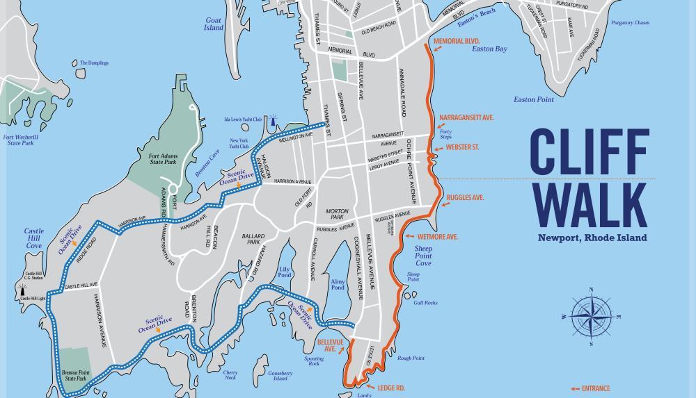 The Cliff Walk, The Cliff Walk: Scenic 3.5 Mile Path – Newport, Rhode Island, The Travel Bug Bite