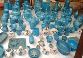 Beautiful blue pottery