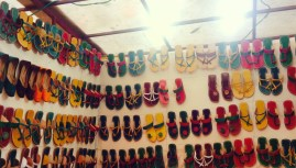 The chappals stall