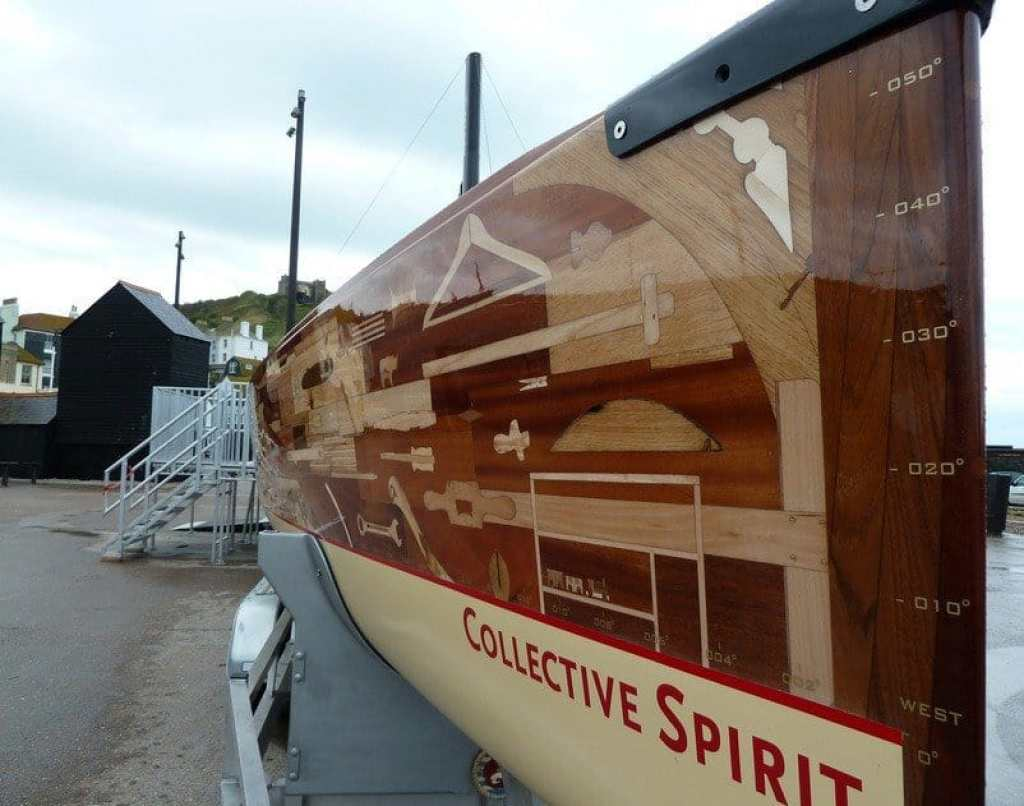 Collective Spirit - wooden boat built for London Olympics