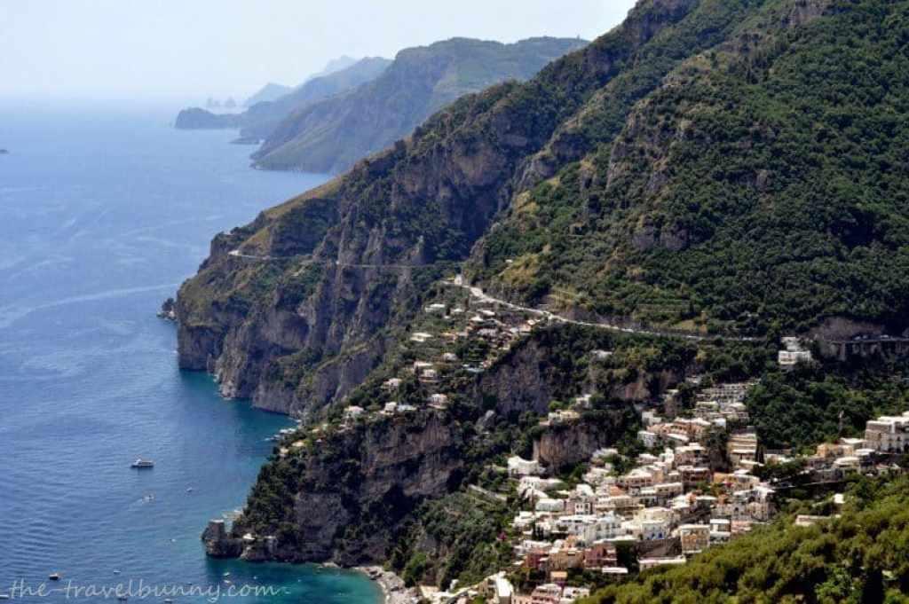View from La Tagliata Restaurant Positano
