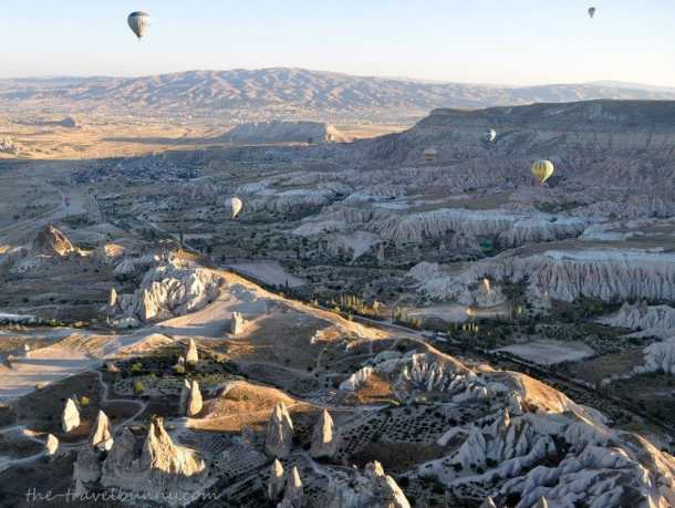 Views over the valleys of Cappadocia
