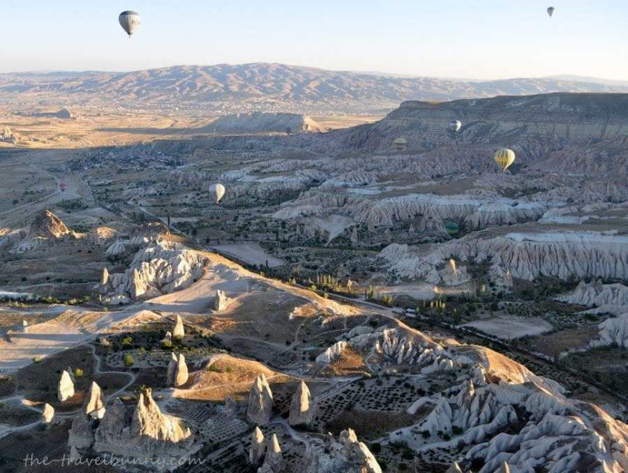 Views over the valleys of Cappadocia