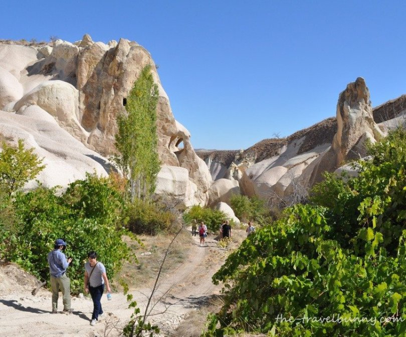 The walk back, King's Valley, Goreme