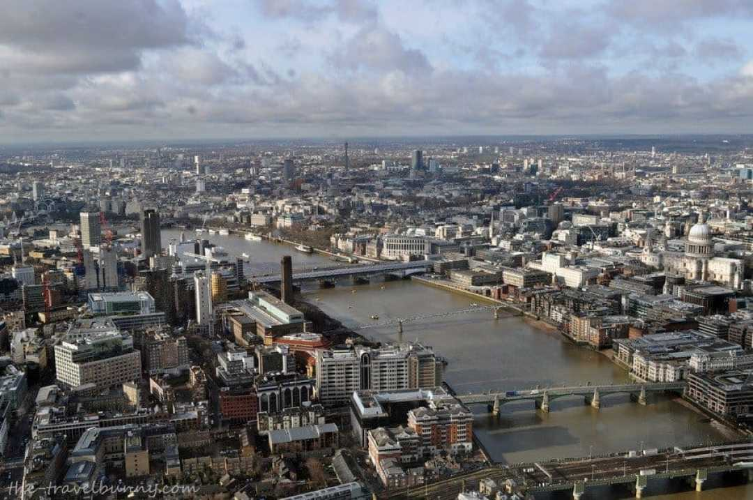View from The Shard towards Westminster