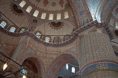 Blue Mosque Interior Domes, Istanbul