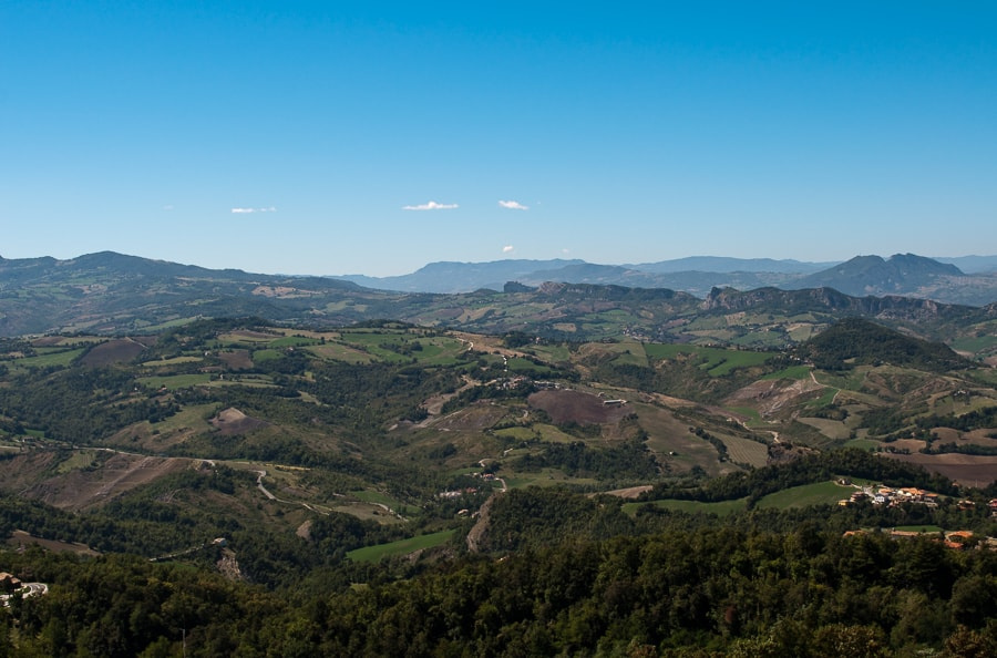 view from San Marino over italy