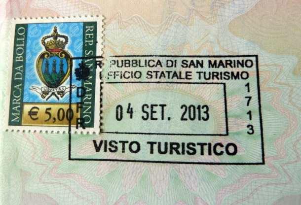 San Marino Passport Stamp