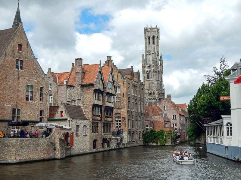 Canal tour in Bruges