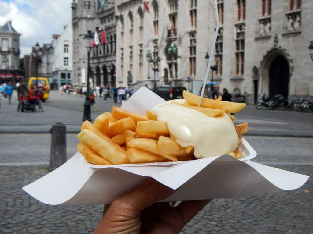 Frites and Mayonnaise in Bruges
