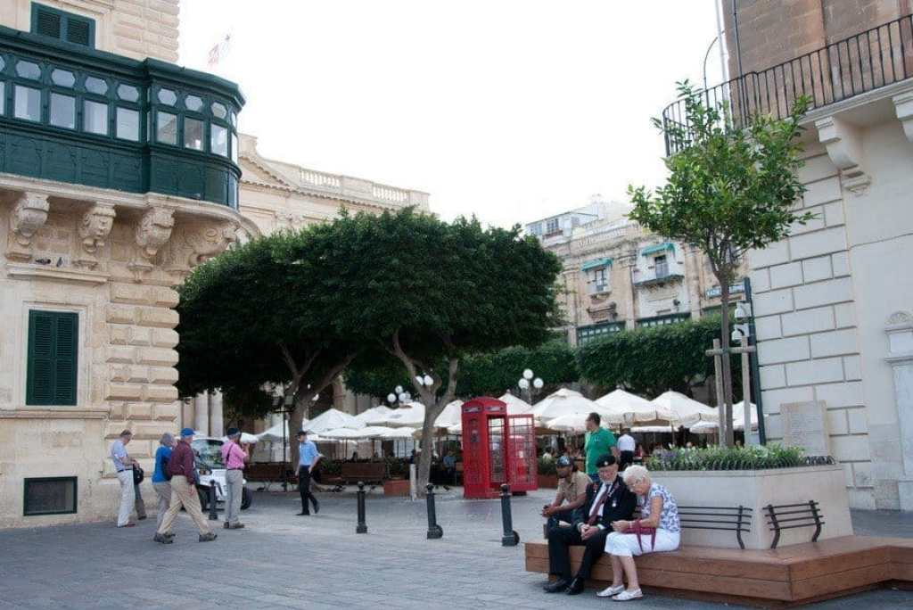 Valletta with telephone box