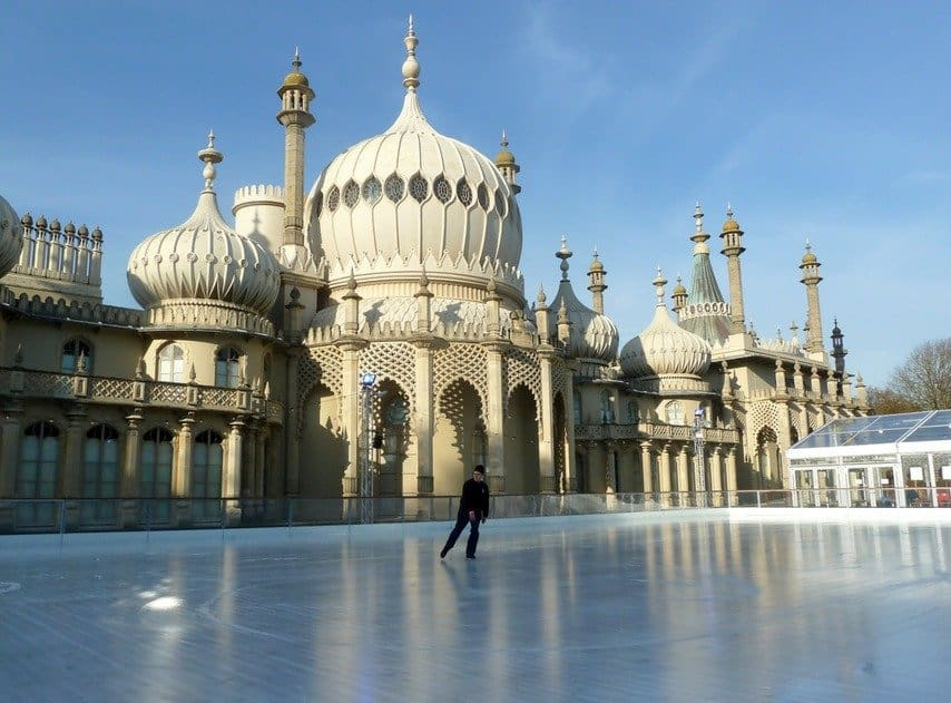 Ice Skating at Brighton's Royal Pavilion