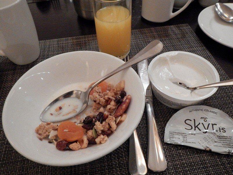 Icelandic breakfast with skyr