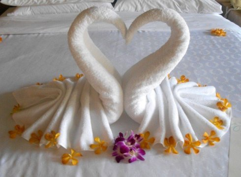 Towel Hearts in Thailand