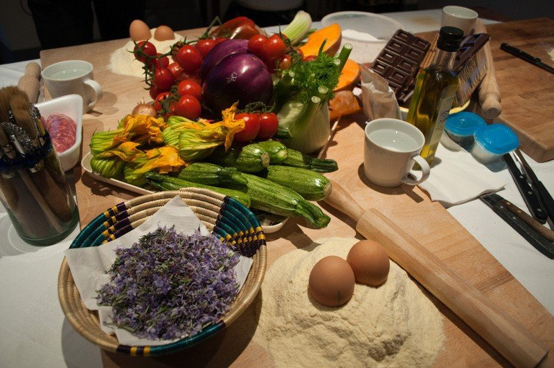 Ingredients for a Tuscan Meal