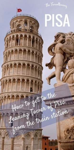How to get from Pisa Centrale train station to the Leaning Tower of Pisa - walking route and map included