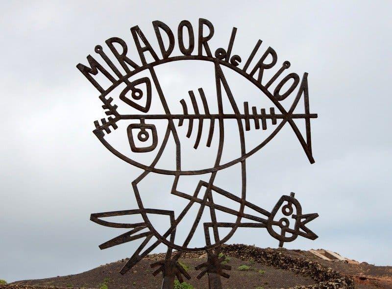 Mirador del Rio sign, Lanzarote