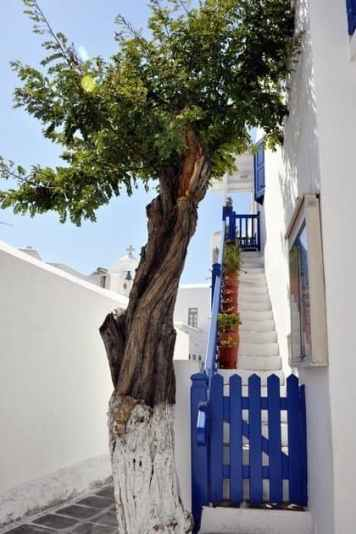 Blue and White Mykonos